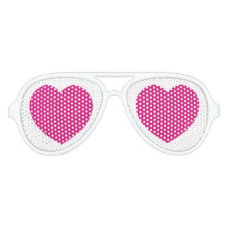 Pink hearts love goo goo eyes valentine's romance party sunglasses