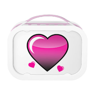 Pink Hearts Lunch Boxes