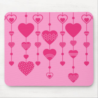 pink hearts mouse mat