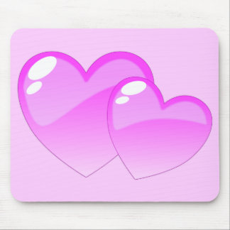 Pink Hearts Mouse Pads