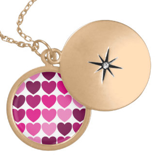 Pink hearts necklace