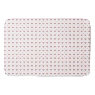 Pink Hearts Pattern Big Little Bath Mat