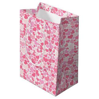 Pink Hearts Pattern - Gift Bag
