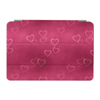 Pink hearts pattern iPad mini cover
