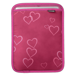 Pink hearts pattern iPad sleeve