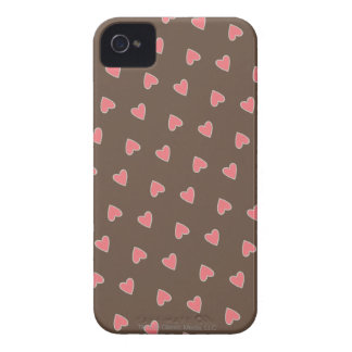Pink Hearts Pattern iPhone 4 Case-Mate Cases
