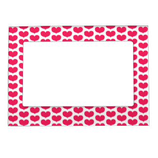 Pink Hearts pattern | Valetine's Day Magnetic Frame