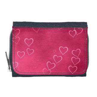 Pink hearts pattern wallets