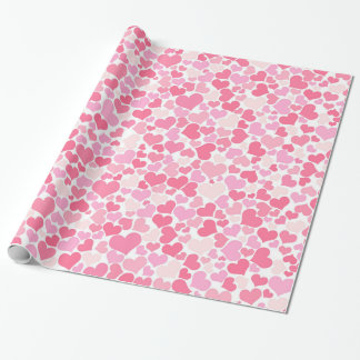 Pink Hearts Pattern Wrapping Paper