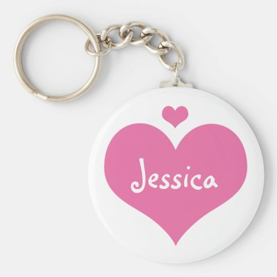 Pink Hearts - Personalised Girly Name Keychain