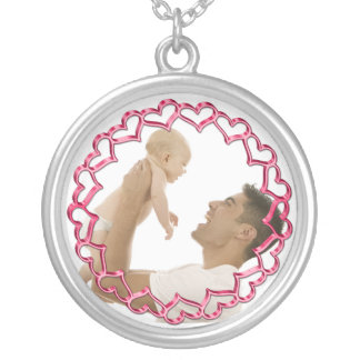 Pink Hearts Photo Frame Jewelry