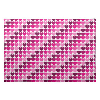 Pink hearts placemat