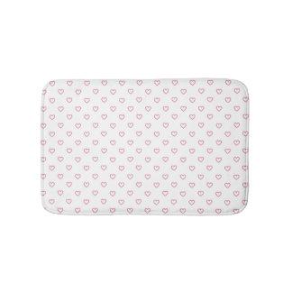 Pink Hearts Polka Dot Pattern Bath Mat Bath Mats