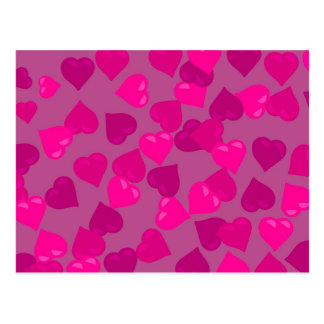 Pink Hearts Postcard