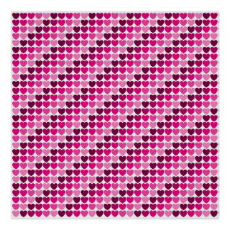 Pink hearts poster