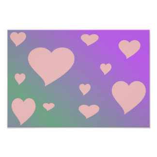 Pink Hearts Posters