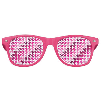 Pink hearts retro sunglasses