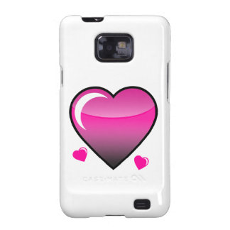 Pink Hearts Samsung Galaxy SII Cases