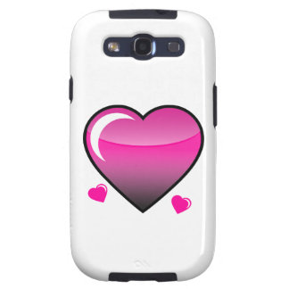 Pink Hearts Samsung Galaxy SIII Cases
