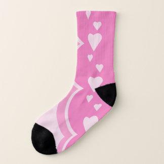 Pink Hearts Socks