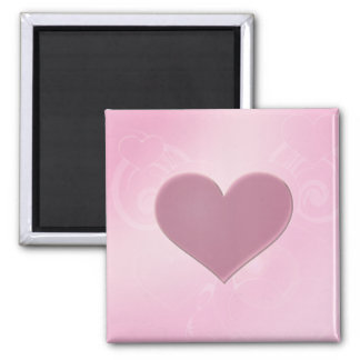 Pink Hearts Square Magnet