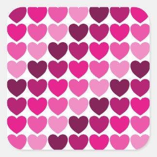 Pink hearts sticker