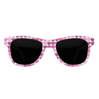 Pink hearts sunglasses