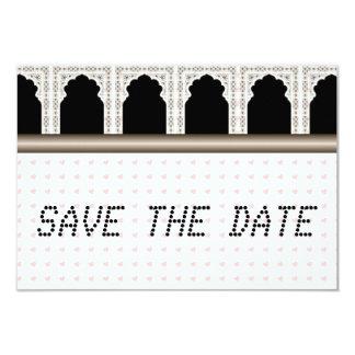 Pink Hearts telegram Muslim Save the Date 9 Cm X 13 Cm Invitation Card