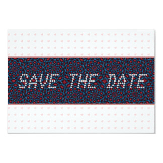 Pink Hearts telegram Save the Date Card