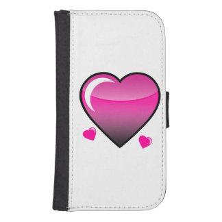 Pink Hearts Galaxy S4 Wallet Case