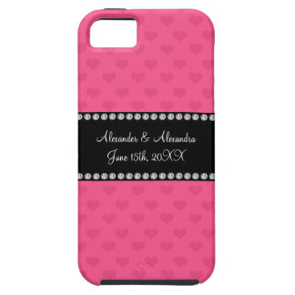 Pink hearts wedding favors case for the iPhone 5