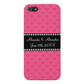 Pink hearts wedding favors cover for iPhone 5