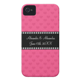 Pink hearts wedding favors iPhone 4 cases