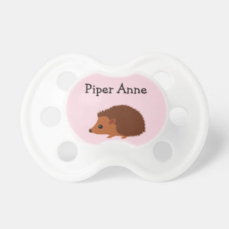 Pink Hedgehog Binky Pacifier Binky with name