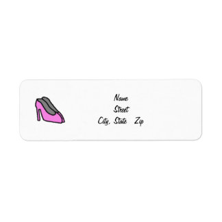 Pink Heels Personalized Return Address Label