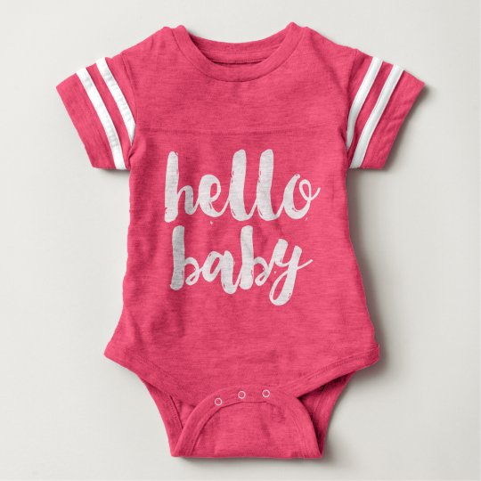 Pink Hello Baby Girl Sports Romper Baby Bodysuit