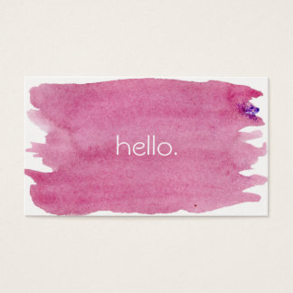 Pink Hello Business Cards