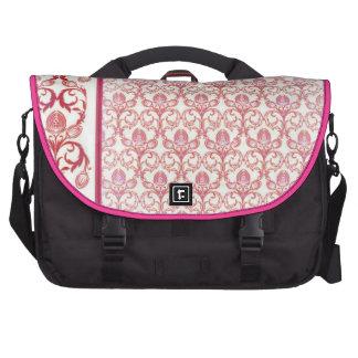 Pink henna mehndi laptop commuter bag