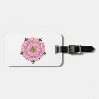 Pink Heraldic Rose Bag Tags
