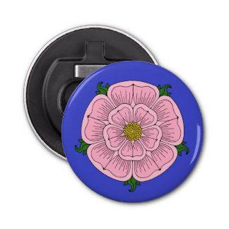 Pink Heraldic Rose Bottle Opener Button Bottle Opener