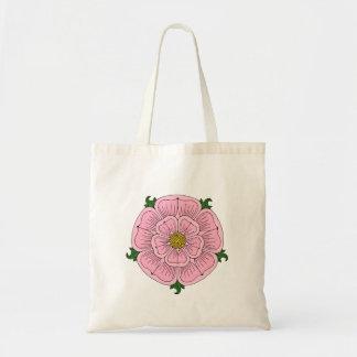 Pink Heraldic Rose Budget Tote Bag