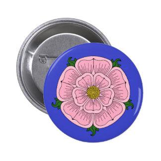 Pink Heraldic Rose Button