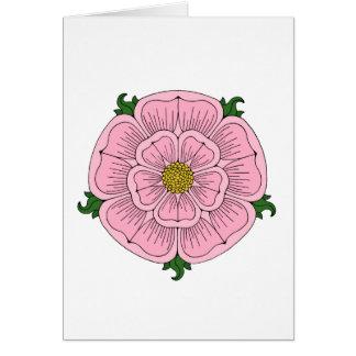 Pink Heraldic Rose Card