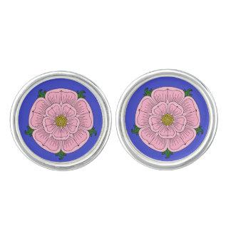 Pink Heraldic Rose Cufflinks