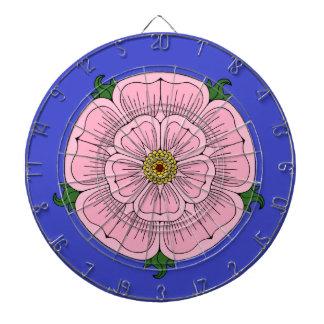 Pink Heraldic Rose Dartboard