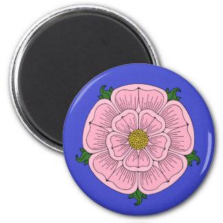 Pink Heraldic Rose Magnet