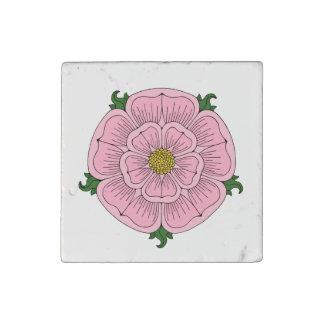 Pink Heraldic Rose Marble Magnet Stone Magnet
