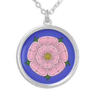 Pink Heraldic Rose Necklace