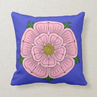 Pink Heraldic Rose Pillow Throw Cushion