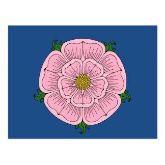 Pink Heraldic Rose Postcard